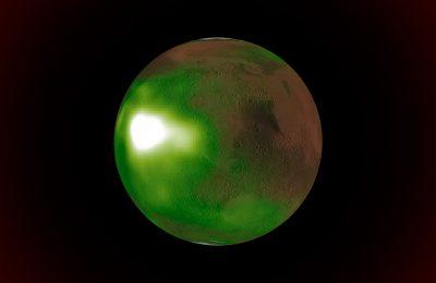 Симуляция NASA демонстрирует зеленое сияние Марса